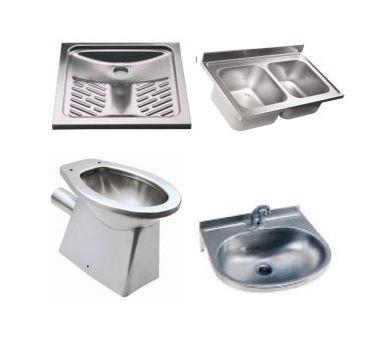 Lavelli e sanitari in acciaio  inox