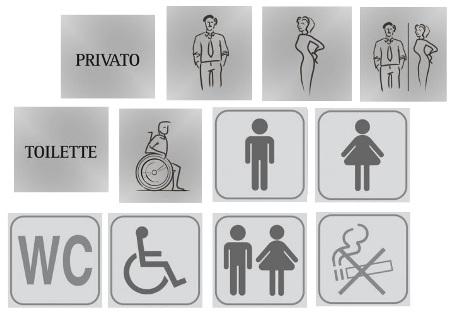 Targhette Pittogrammi per bagni pubblici