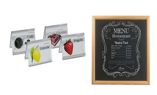 Placas etiquetadas y tableros de PVC.