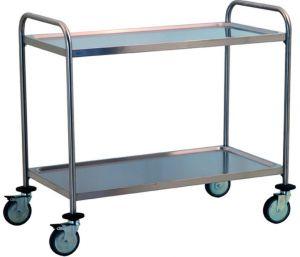 TEC1106 Carrello tecnico acciaio inox AISI 304 2 piani smontabile 100x50x95h
