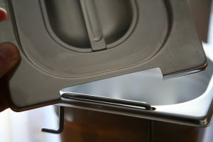 CPR1/1M Coperchio 1/1 in acciaio inox AISI 304 con spacco maniglie