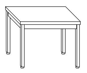 TL5204 Tavolo da lavoro in acciaio inox AISI 304 160x70x85