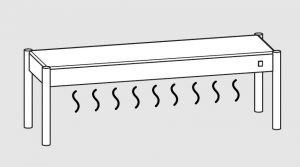 64001.17 Ripiano di appoggio tavoli 1 ripiano caldo cm 170x35x40h