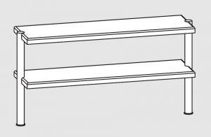 64110.12 Ripiano di appoggio tavoli 2 ripiani 2 gambe cm 120x35x70h