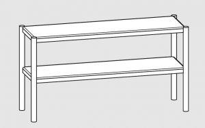 64100.16 Ripiano di appoggio tavoli 2 ripiani cm 160x35x70h