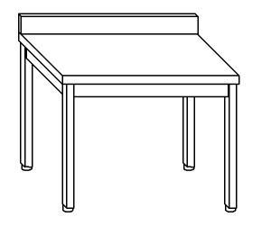 TL5299 Tavolo da lavoro in acciaio inox AISI 304 alzatina 150x70x85