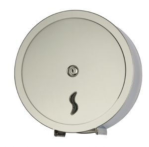 T105006 Distributore di carta igienica acciaio Inox AISI 430 brillante 400 metri