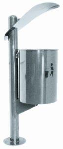 T106061 Gettacarte in acciaio inox per esterno 30 litri