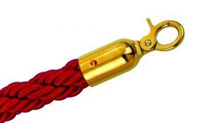 T106331 Cordone rosso bordeaux gancio dorato per sistema divisorio 1,5 metri