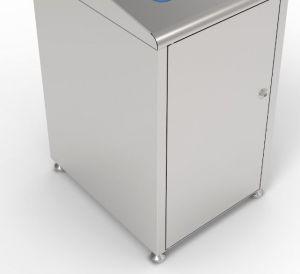 T789050 Struttura per contenitore raccolta differenziata rifiuti acciaio inox 120 litri