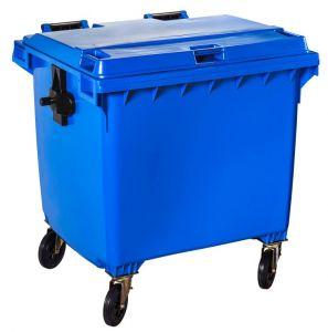 T766662 Contenitore rifiuti da esterno 4 ruote da 1100 litri BLU