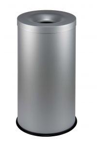 T770022 Gettacarte antifuoco metallo grigio 90 litri