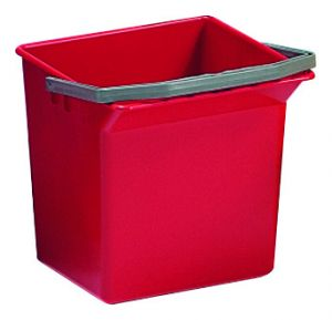 00003505 Secchio 6 L Con Manico Superiore - Rosso