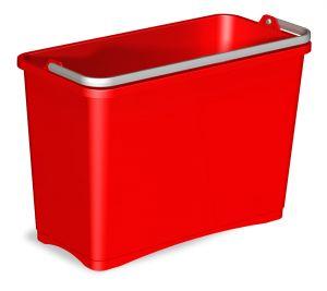 0R003252 Secchio 8 L Con Manico Superiore - Rosso