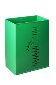 T778022 Gettacarte rettangolare acciaio verde da esterno 24 litri