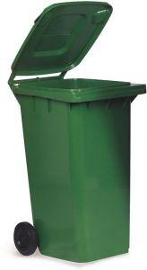 AV4676 Portarifiuti polietilene verde 2 ruote 120 litri