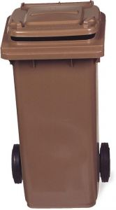 TAV 4679 Portarifiuti polietilene marrone 2 ruote 120 litri