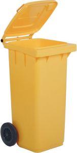 AV4678 Portarifiuti polietilene giallo 2 ruote 120 litri