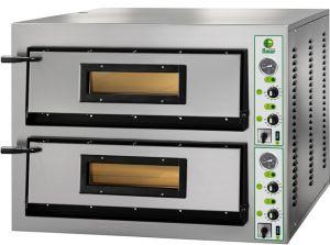 FML44M Forno elettrico pizza 12 kW doppia camera 72x72x14h cm - Monofase