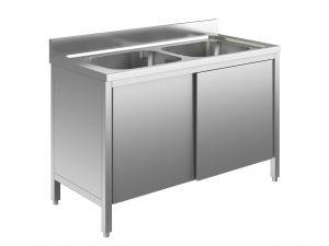 EU01610-12 lavatoio armadio ECO cm 120x60x85h  2 vasche - porte scorrevoli