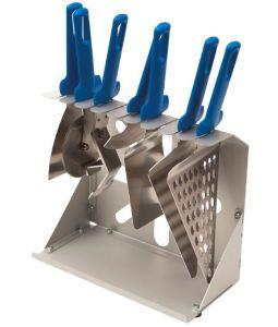 AC-PAC Supporto portaminuteria 9 posti in alluminio anodizzato
