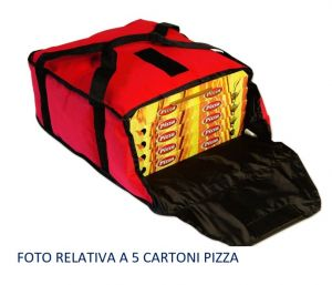 BTD3320 Borsa termica alto isolamento per 5 cartoni pizza da ø 33 cm