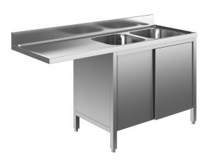 EU01912-20 lavatoio armadio per lavast. ECO cm 200x60x85h  2v e sg sx - porte scorrevoli