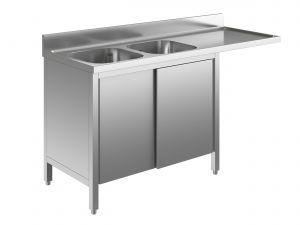 EU01961-16 lavatoio armadio per lavast. ECO cm 160x70x85h  2v e sg dx - porte scorrevoli