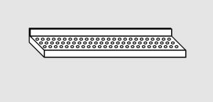 EU63801-14 ripiano a parete forato ECO cm 140x28x4h