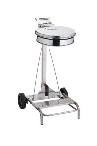 T601046 Portasacco mobile acciaio inox AISI 304 con coperchio e pedale