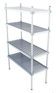 Scaffale in alluminio 4 ripiani dim. cm 130x50x200h code: SN50130H200