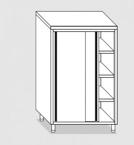 34308.14 Armadio verticale past cm 140x70x180h porte scorrevoli - 3 ripiani interni regolabili