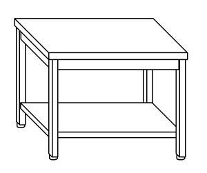 TL5064 Tavolo da lavoro in acciaio inox AISI 304 ripiano 200x60x85